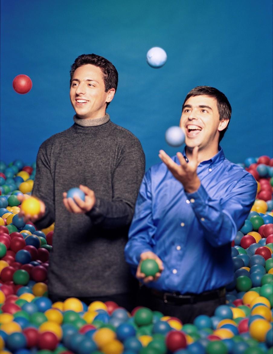 Larry Page en Sergey Brin